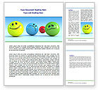 Careers/Industry: Emotions Word Template #07692