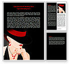 Careers/Industry: Fashionable Lady Word Template #07693