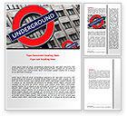 Flags/International: London Subway Word Template #07696
