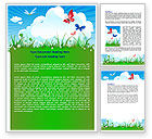 Nature & Environment: Summer Meadow Word Template #07697