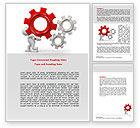 Utilities/Industrial: Gear Man Word Template #07705