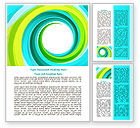 Abstract/Textures: Aqua Swirl Word Template #07725