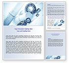 Careers/Industry: Mechanical Sketch Word Template #07729