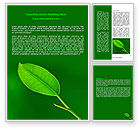 Nature & Environment: New Green Leaf Word Template #07736