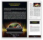Careers/Industry: Music Energy Word Template #07740