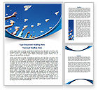 Business Concepts: Running Paper Planes Word Template #07741