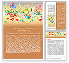 Education & Training: Under the Sea Word Template #07745