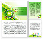 Nature & Environment: Blooming Earth Concept Word Template #07758