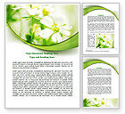 Nature & Environment: Spring Bloom Word Template #07764