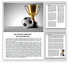 Sports: Football Cup Word Template #07774