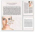 Medical: Skin Care Word Template #07778
