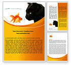 Business Concepts: Fish and Cat Word Template #07779