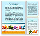 Careers/Industry: Deckchairs Word Template #07782