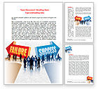 Education & Training: Failure and Success Word Template #07789