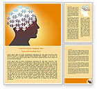 Education & Training: Puzzle Brain Word Template #07791