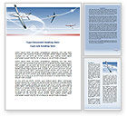 Cars/Transportation: Air Transport Word Template #07793