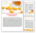 Medical: Yellow Pills Word Template #07799