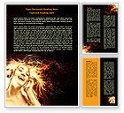 Careers/Industry: Flame Girl Word Template #07807