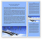 Construction: City Bridge Word Template #07823