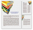 Education & Training: Pile of Books Word Template #07825