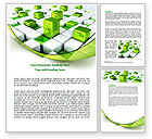 Technology, Science & Computers: Green Graphs Word Template #07839