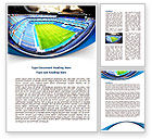 Careers/Industry: Stadium At Night Word Template #07846