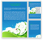 Nature & Environment: Curly Sprout Word Template #07854