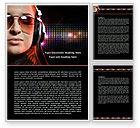 Careers/Industry: Music Lover Word Template #07856