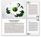 Nature & Environment: World Daisy Word Template #07859