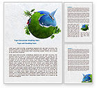 Careers/Industry: Land and Water Word Template #07861