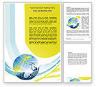 Global: Yellow Globe Theme Word Template #07870