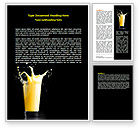 Food & Beverage: Glass Of Orange Juice Word Template #07871