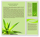 Nature & Environment: Aloe Word Template #07880