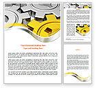Utilities/Industrial: Spinning Gears Word Template #07888