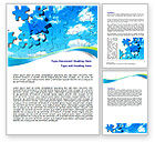 Business Concepts: Puzzle Of The Sky Word Template #07893