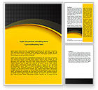 Abstract/Textures: Yellow Arch Theme Word Template #07900