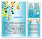 Holiday/Special Occasion: Rainbow Splash Word Template #07902