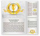 Careers/Industry: Golden Cup Word Template #07905