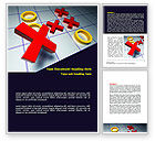 Business Concepts: Crosses And Zeros Word Template #07907