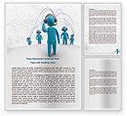 Telecommunication: Wireless Community Word Template #07910