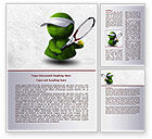 Sports: 3D Tennis Player Word Template #07911