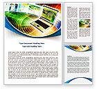 Technology, Science & Computers: Modelo do Word - computador portátil #07918