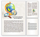 Global: World Exploration Word Template #07923