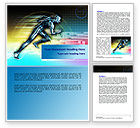 Sports: Running Iron Man Word Template #07928
