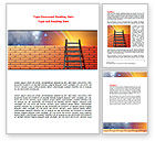 Consulting: Fence Ladder Word Template #07930