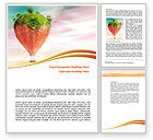 Nature & Environment: Hot Air Balloon Word Template #07933