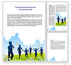 Education & Training: Happy People Word Template #07939