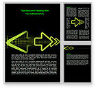 Business Concepts: Pointing Arrows Word Template #07941