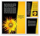 Art & Entertainment: Flaming Sunflower Word Template #07948