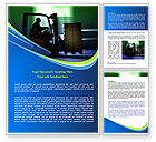 Utilities/Industrial: Loader In The Warehouse Word Template #07952